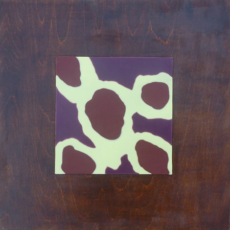 "Lisa Marie Sipe, ""Landed,"" encaustic on wood, 12 x 12 inches"