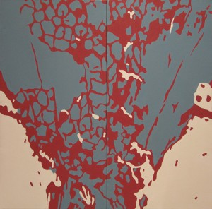 "Lisa Marie Sipe, ""Smolder,"" 18 x 24 inches, acrylic on canvas"