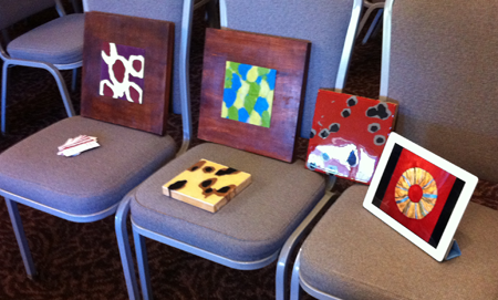 Lisa Marie Sipe 5th International Encaustic Conference Hotel Fair Display