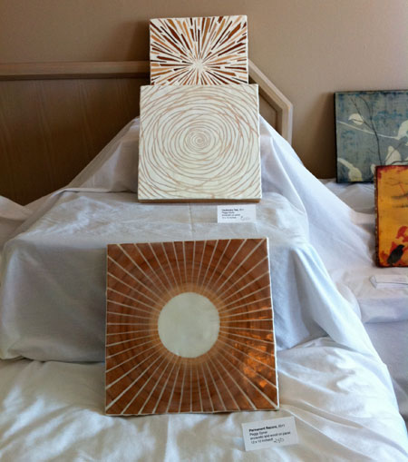 Peggy Epner at the 5th international encaustic conference hotel fair