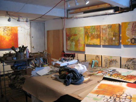 The studio interior of Lisa Pressman