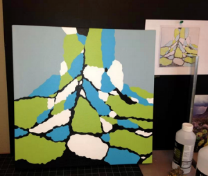 Lisa Marie Sipe and her painting process.