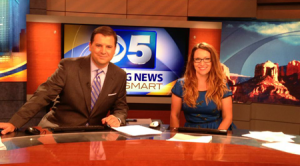 Pat McReynolds interviews artist Lisa Marie Sipe on CBS 5