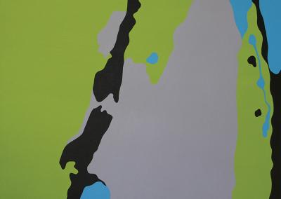 Lisa Marie Sipe modern acrylic tree painting