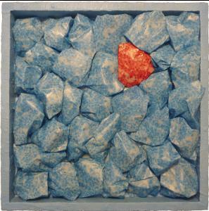 Cancer mixed media encaustic sculptural artwork