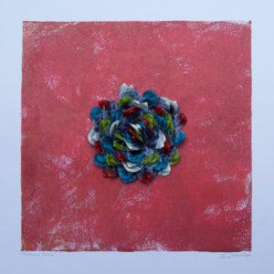 Platinum Shrub, mixed media encaustic by Lisa Marie Sipe