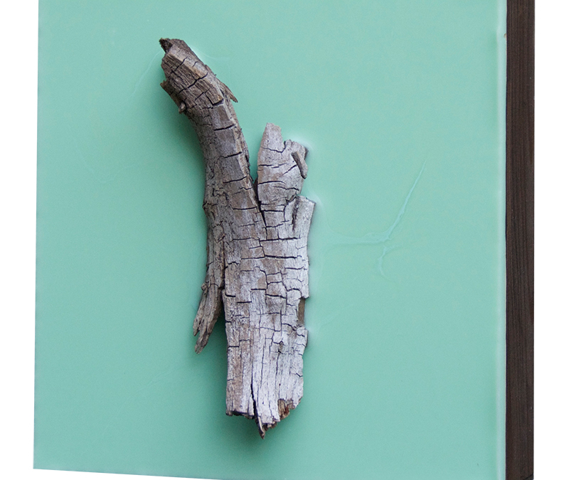 Lisa Marie Sipe encaustic and tree branch painting