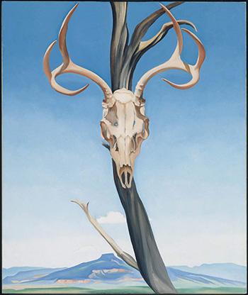 Georgia O'Keefe, Deer's Skull with Pedernal