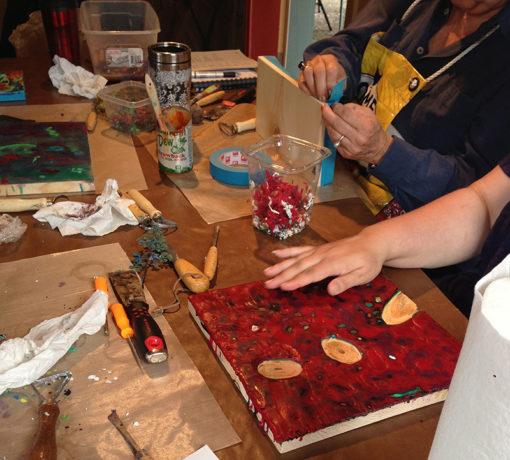 Lisa Marie Sipe 2015 Encaustic Painting Workshop