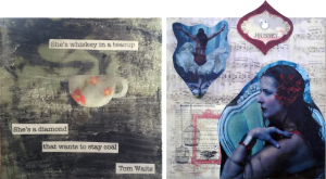 Encaustic Collage Student Work