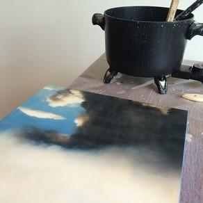 Encaustic Wax Collage Workshop Bend Oregon