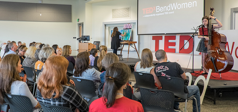 Live painting at TEDxBend Women