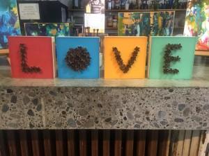 LOVE in wax in pine cones by Lisa Marie Sipe