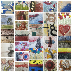 30 encaustic monoprints in 30 days from Lisa Marie Sipe