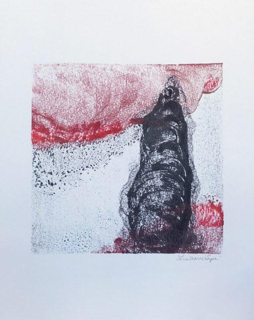 Black Beacon, encaustic monoprint, Lisa Marie Sipe