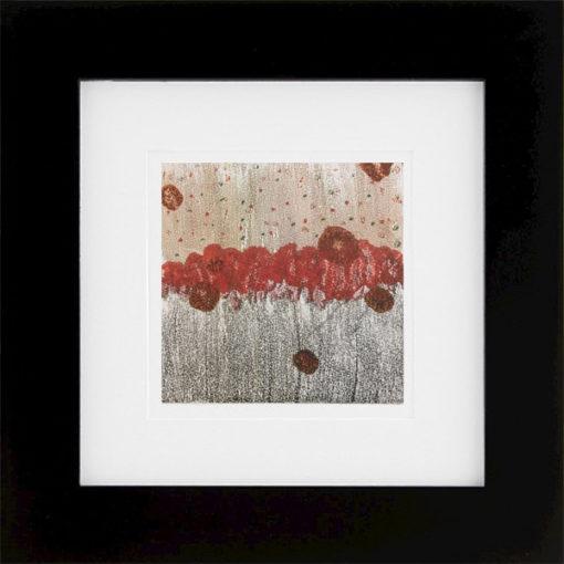 Cardinal Line, encaustic monoprint, Lisa Marie Sipe