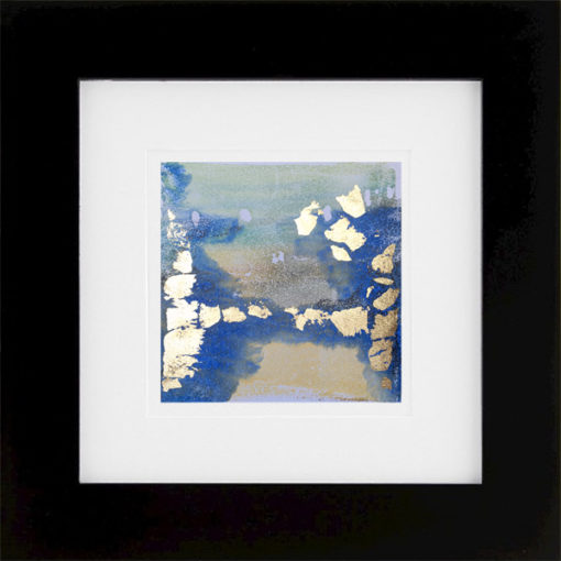 The Creation of Gold, encaustic & gold leaf monoprint, Lisa Marie Sipe