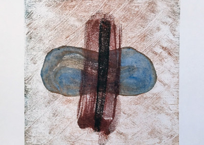 Cycle, encaustic monoprint, Lisa Marie Sipe
