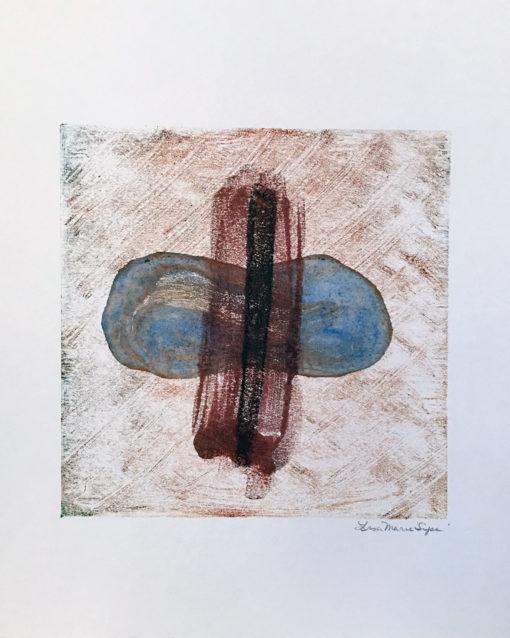 Cycle, encaustic monoprint, Lisa Marie Sipe