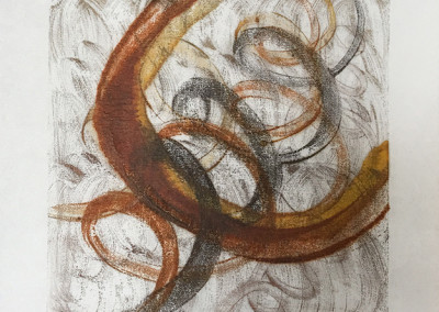 """Ecliptic"" encaustic monoprint by Lisa Marie Sipe"