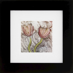 Efflorescence, encaustic monoprint, Lisa Marie Sipe