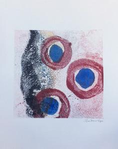 Firing on All Cylinders, encaustic monoprint, Lisa Marie Sipe