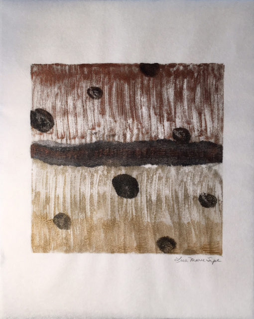 """Golden Tinny"" encaustic monoprint by Lisa Marie Sipe"