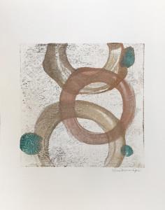 Happiness, encaustic monoprint, Lisa Marie Sipe