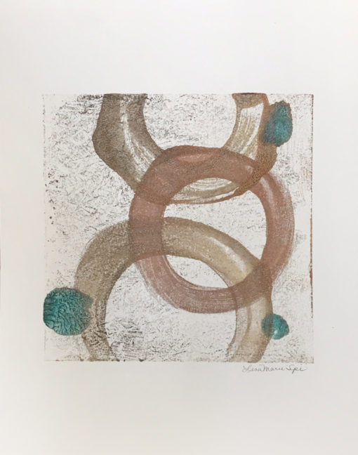 Happiness, encaustic monoprint, Lisa Marie Sipe