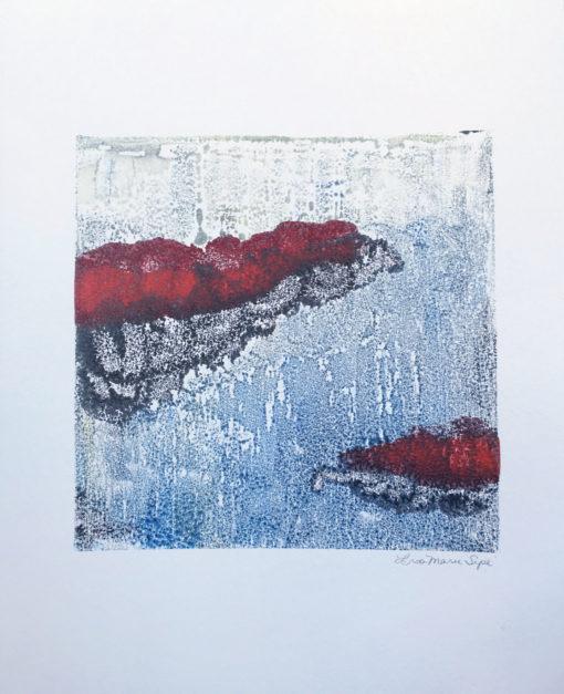 Mist, encaustic monoprint, Lisa Marie Sipe