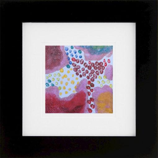 Prismatic, encaustic monoprint, Lisa Marie Sipe