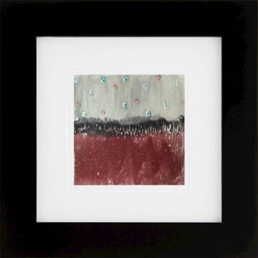Red Range, encaustic monoprint, Lisa Marie Sipe