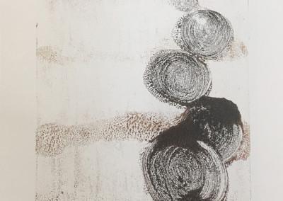 Residue, encaustic monoprint, Lisa Marie Sipe