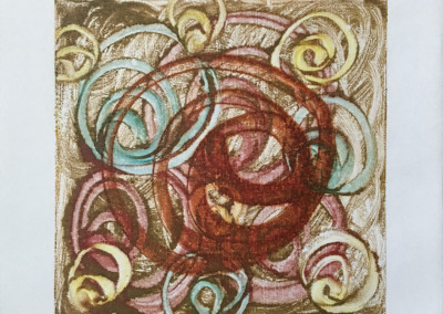 Whorled, encaustic monoprint, Lisa Marie Sipe