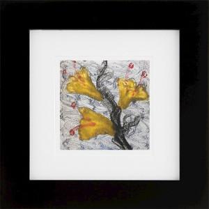 Wild Flowers, encaustic monoprint, Lisa Marie Sipe