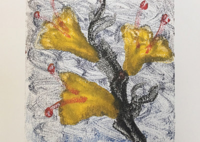 Wild Flowers, encaustic monoprint, Lisa Marie Sipe