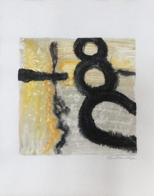 Winter, encaustic monoprint, Lisa Marie Sipe