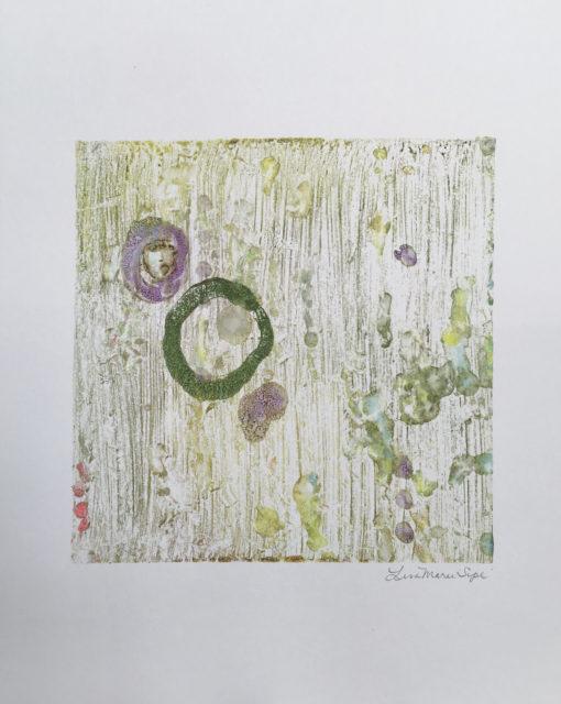 Getting Out, encaustic print, Lisa Marie Sipe