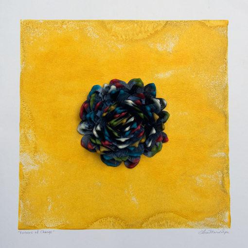 Embers of Change, encaustic sculpture on paper by Lisa Marie Sipe
