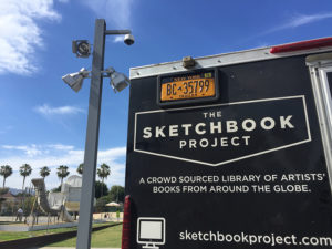 Lisa Marie Sipe with The Sketchbook Project at LACMA