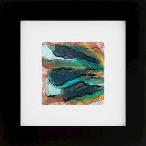 Whirlwind of Time II abstract encaustic monotype by Lisa Marie Sipe