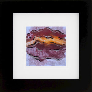 Whirlwind of Time XI abstract encaustic monotype by Lisa Marie Sipe