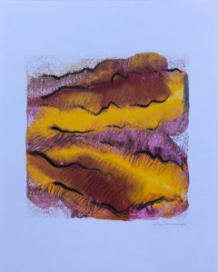 Whirlwind of Time III abstract encaustic monotype by Lisa Marie Sipe