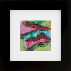 Whirlwind of Time IIII abstract encaustic monotype by Lisa Marie Sipe