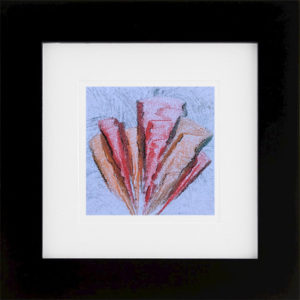 Whirlwind of Time VII abstract encaustic monotype by Lisa Marie Sipe
